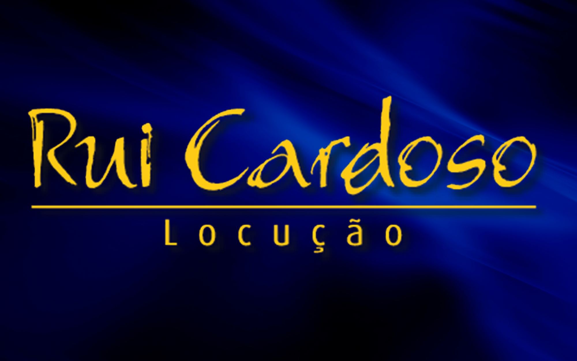 Rui Cardoso - Locução